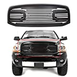 ECOTRIC For 2006 2007 2008 2009 Dodge RAM 1500 2500 3500 Front Big Horn Grille Replacement Shell(W/O Light, Black)