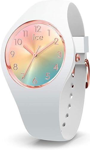 Ice-Watch - Ice Sunset Rainbow - Montre Blanche pour Femme avec Bracelet en Silicone - 015743 (Small)