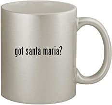 got santa maria? - 11oz Silver Coffee Mug Cup, Silver
