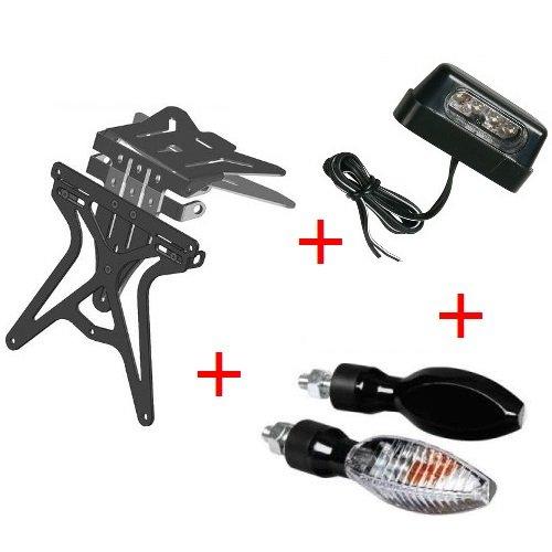 Kit pour moto support de plaque d'immatriculation universel + 1 paire de flèches + lumière plaque d'immatriculation Lampa Ducati 888 SP 5 1992 – 1993