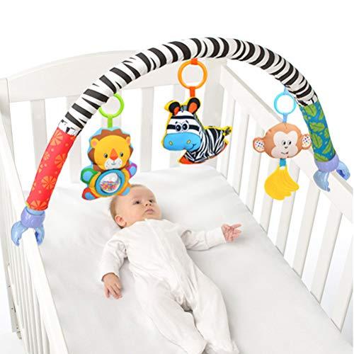 Knowooh Arco de Juego para Cochecito con Cadena móvil de Juguete sonajero con Lindo Animal para Colgar en Cochecito, Asiento de bebé o Cuna