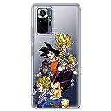 Movilshop Coque pour [ Xiaomi Redmi Note 10 Pro / 10 Pro Max ] Officiel Dragon Ball [Goku et Vegeta...