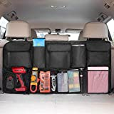IPARTS EXPERT Car Trunk Backseat Organizer, Large SUV Hanging Storage Bag (42 x 22 inch), Space Saving Organizer for Car Truck Van RV