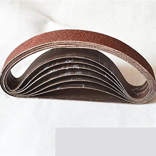 5 piezas 30 * 533 mm Bandas de lijado 533 * 30 mm Pantalla de banda con grano 60 a 600 Paño suave para lijadora de banda, 600