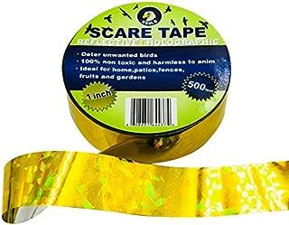 Ugold Bird Repellent Scare Tape Bird Repellent Ribbon - 1'' x 500 Ft (Gold)