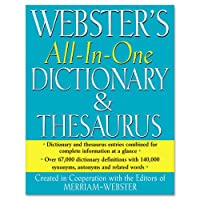 MERFSP0471 - All-In-One Dictionary/Thesaurus by Merriam-Webster