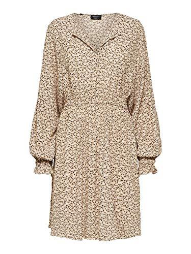 SELECTED FEMME SLFRIYANKA-Vienna LS AOP Short Dress B Vestido, Tigers Eye, 38...