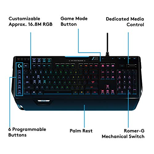 Product Image 1: Logitech G910 Orion Spectrum RGB Wired Mechanical Gaming Keyboard , Black