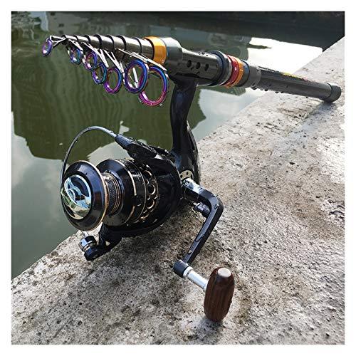 xldiannaojyb Barra de Pesca de Hilado de Fibra de Carbono y película de Pesca de 13BB Combo Pole telescópico Pole de Pesca Spinning Kit (Bundles : 1.8M Rod with BK2000)