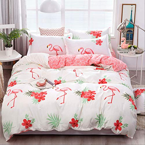 Treasure house Winter Solstice Cartoon Pink Love Symbol Bedding Set 3/4pcs Children Boys Girls And Adult Bedding Liner Duvet Cover Sheet Pillowcase