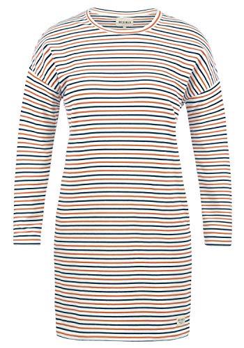 DESIRES Helena Sweatkleid Sommerkleid Kleid Mit Streifen-Optik Und Rundhals Aus Stretch-Material, Größe:M, Farbe:Insignia Blue (1991)