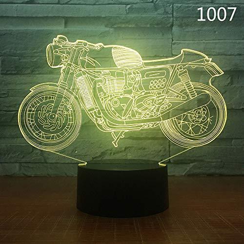 Trucco moto Bici Harley Racing Moto Sport Lampada da notte 3D Acrilico Laser Telecomando Amici per bambini Giocattoli regalo