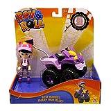 Rev & Roll – Vehículo Alley de 17 cm con Funciones mecánicas y su Figura Avery de 10 cm – Juguete del Dibujo Animado Juguete para niños de 3 años y más