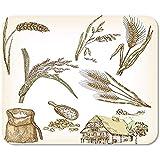 Mousepad Getreide Weizen Roggen Hafer Gerste Reis Bauernhaus Mousepad Gedruckte Mousepad Bunte Mausmatte Spielbüro Rutschfeste Arbeit Sonderschule 25 X 30Cm
