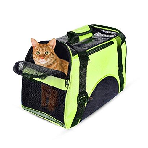 PETCUTE Hundetasche hundetragetasche Tragetasche für Katze Faltbar Transporttasche für kleine Hunde und Katzen