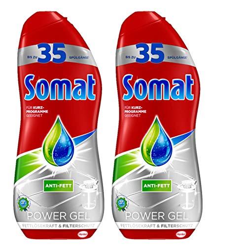 Somat Power Perfect Gel, 2er Pack (2 x 700 ml) Fettlöser-Kraft Filterschutz