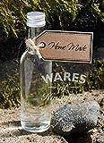 Wares of Knutsford 100 X Mini/Miniatur-Glasflaschen (50ml) mit silbernen Aluminiumkappen. Ideal für Hochzeitsbevorzugungen und kleine Geschenke mit Wein, Spirituosen und hausgemachten Getränken.