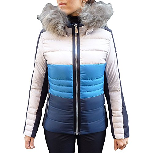 West Scout Abigail Real Down Ski Jacket Damen Skijacke blau grau (40)