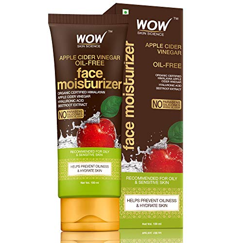 WOW Skin Science Organic Apple Cider Vinegar Face Moisturizer - Oil Free, Quick Absorbing - For Normal/Oily and Acne Prone Skin - No Parabens, Silicones, Mineral Oil, Color, 100 ml