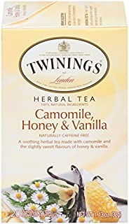 Twinings of London Camomile, Honey & Vanilla Herbal Tea, 20 Count (Pack of 6)