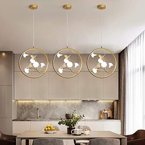 XinMei - Lámpara de techo de cristal con diseño de rosa y luz cálida LED dorada para decoración del hogar, sala de estar, dormitorio, hotel, 40 cm