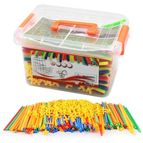 DIY Forts Building Toys, Straws Building Blocks Juguetes, Juguetes de construcción Kids Castle Building Block Kit de construcción Kit de construcción de plástico Kit de construcción Juguetes