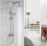 Grifos de ducha Tuberías de cobre Hardware ducha Conjunto de ducha cuarto de baño fijada grande la regadera de mano de las mujeres determinadas del arma de aerosol de la ducha Sistema de Ducha