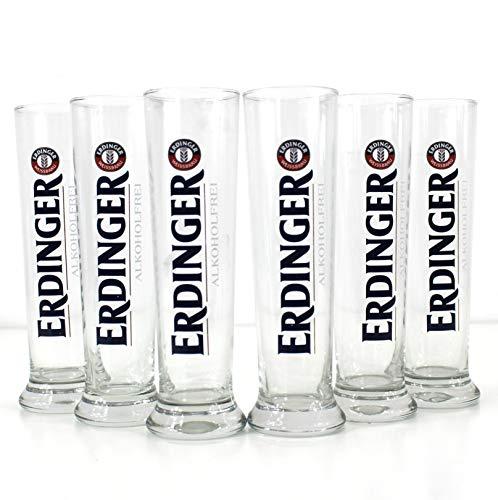 Erdinger alkoholfrei Gläser 6x0,3l Bier-Glas ~mn 1115 1044