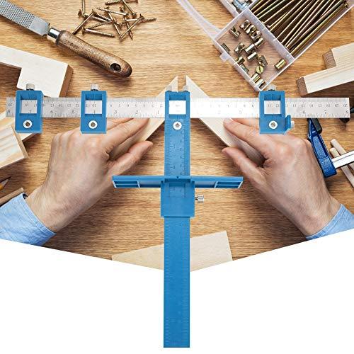 Verstelbaar houtbewerkingsmeetgereedschap boorgeleider ponslocator meubel deuvel gatenzaag