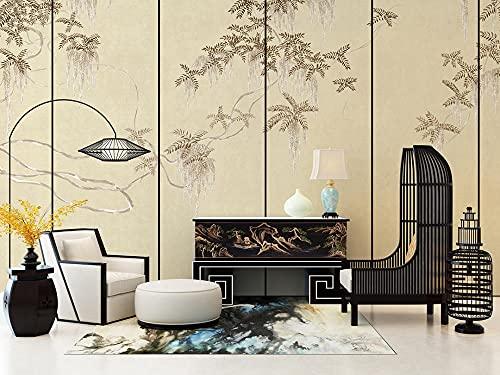 BLZQA 3D Papel tapiz Fotográfico Pintura de paisaje Mural Salón Dormitorio Despacho Pasillo Decoración murales decoración de paredes moderna 300x200 cm-6 panelen