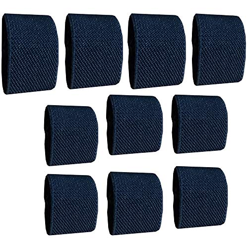 Amlrt Belt Keepers Tactical Elastic Belt Loop Keeper for 1''/1.5' Wide Belt(Dark Blue)