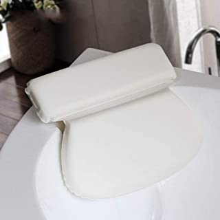 YXHMdd Comfortable Bath Pillow for Head and Neck with Suction Cups,Waterproof Bath Cushion for Back Support