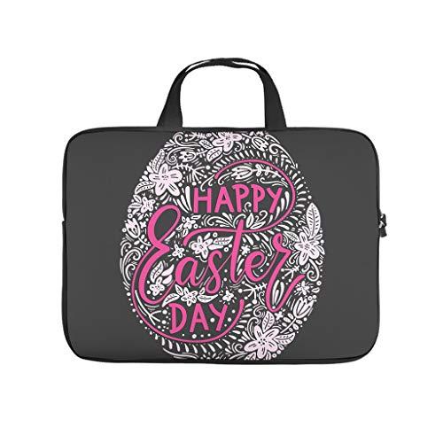 Happy Easter Egg Double Sided Printed Laptop Bag Protective Case Waterproof Neoprene Laptop Case Bag Fashion Tablet Bag Bag for Women Men