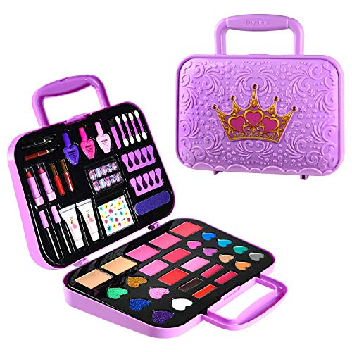 Toysical Kids Makeup Kit for Girls - Tween Makeup Set for Girls, Non Toxic, Play Girls Makeup Kit for Kids - Top Birthday for Ages 5, 6, 7, 8, 9, 10 Year Old Children