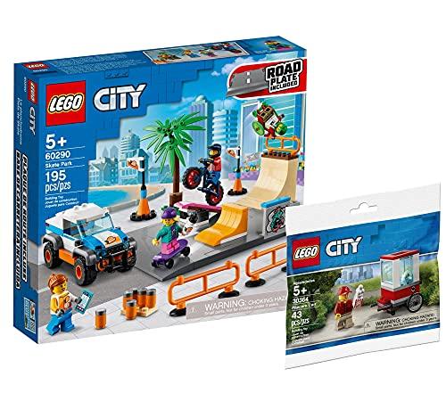 Collectix Lego Set - Lego City Skate Park 60290 + Lego City Popcorn Wagen Polybag 30364
