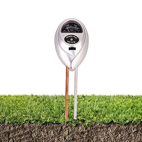 Mitening Tester per pavimento, umidità del suolo, 3 in 1, misuratore di umidità/luce solare/pH per...