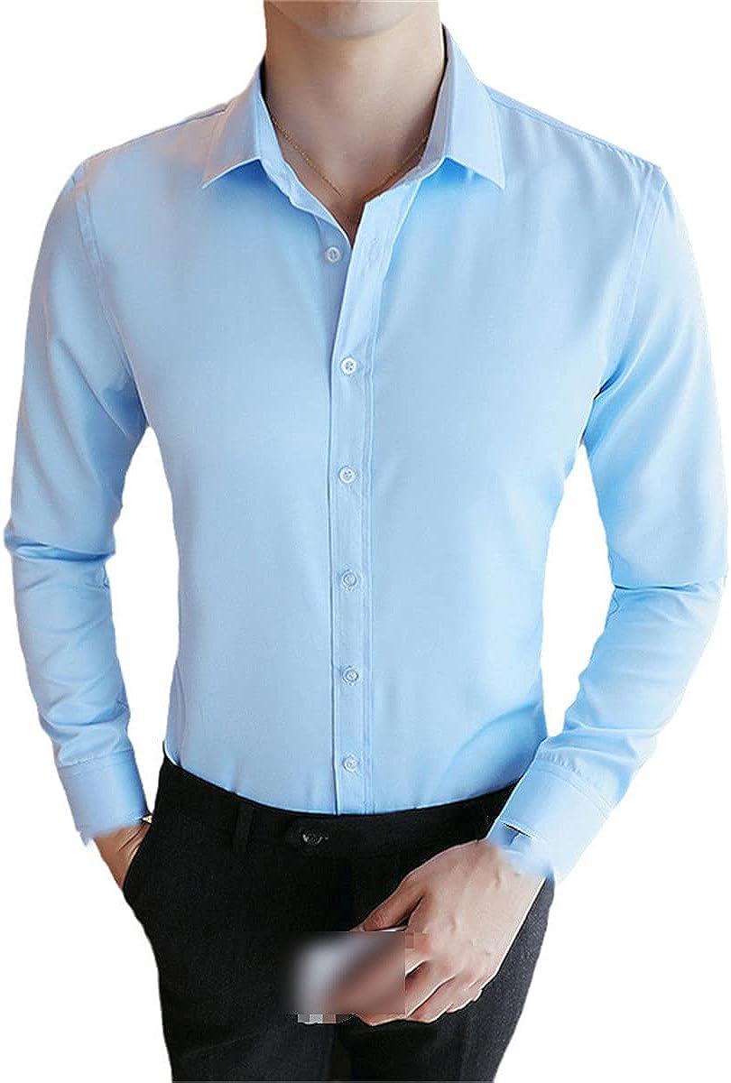 TYWAG Autumn Korean Style Men's Casual Shirts Long Sleeved Turn-Down Collar Button Down Regular Fit White Black Social Shirt