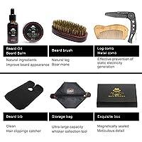 ソフトクレンジングのための7個/セットビアードスーツビアードくしブラシクリームオイルビアードスタイリング育毛ケアクリーニングキット脱毛製品