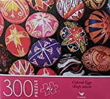 Factory Sealed 300-piece Puzzle Featuring Beautifully Decorated Colored Eggs. for Ages 9 Years and up. Finished Puzzle is 11' x 14'