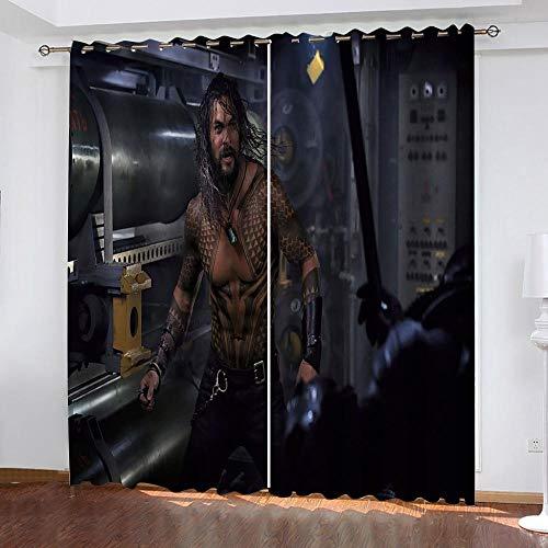 Ageeseso 3D Vorhang Filmfiguren Indoor Vorhänge Druck Schlafzimmer Verdunkelungsvorhänge Vorhang für Studieren Wohnzimmer 2 Stück 220(W) x215(H) cm Wohnzimmer Vorhang