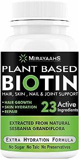 Mirayaahs Plant Based Biotin For Hair Growth from Sesbania Grandiflora Extract, Bamboo Shoot, Keratin and 23 Power Extract...