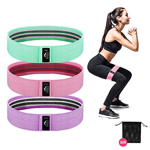 Awroutdoor Bande Elastica Fitness 3 Set, Fitness Bande Elastiche di Resistenza Larghe e in tessutopiù per Yoga, Pilates, per Fitness Yoga, Pilates, Physiotherapy