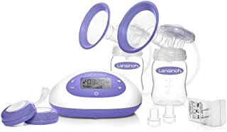 Lansinoh Pro Double Electric Breast Pump Portable Pump With LCD Screen, Companion App, Pump for Breastfeeding