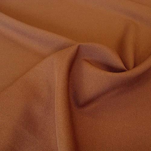 TOLKO Modestoff Dekostoff universal Stoff zum Nähen Dekorieren | Blickdicht knitterarm | Meterware (Braun) Bekleidungsstoffe, Dekostoffe, Vorhangstoffe, Baumwollstoffe