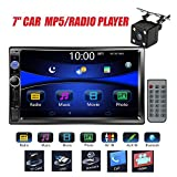"""Car Stereo Double Din Radio with Rear View Camera, Regetek 7"""" Touchscreen In"""