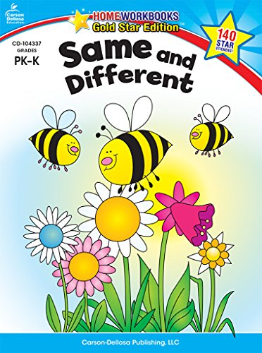 Same And Different Grades Pk K Gold Star Edition Home Workbooks