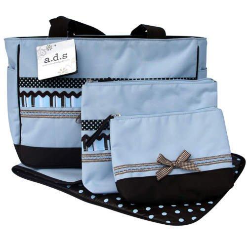 AD Sutton & Sons Blue Ribbon Trim Diaper Bag