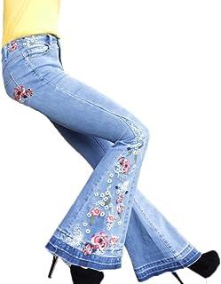Amazon.es: Pantalones Bordados - Vaqueros / Mujer: Ropa