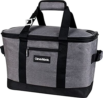 CleverMade SnapBasket Collapsible Soft-Sided 50 Can Cooler, 30 Liter
