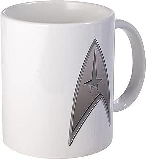 CafePress STAR TREK Silver Metallic Insignia Mug Unique Coffee Mug, Coffee Cup